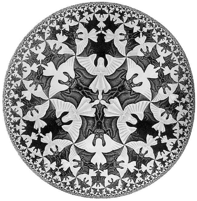 """Escher, Limite del cerchio IV """"Angeli e diavoli"""", 1960"""