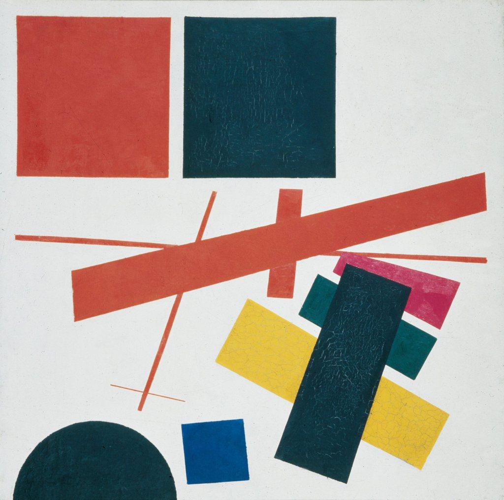 Malevich, Suprematismo. Composizione non-oggettiva ,1915, Museo di Belle Arti di Ekaterinburg.
