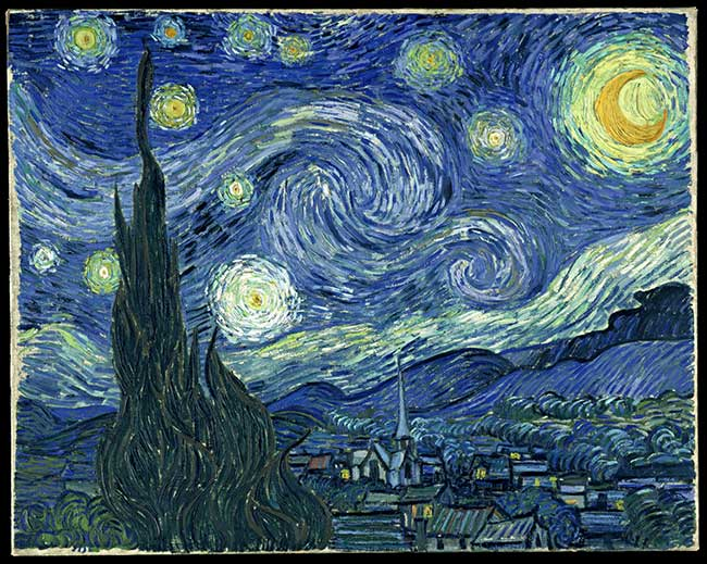 Vincent van Gogh, Notte stellata, 1889, Museum of Modern Art, New York.